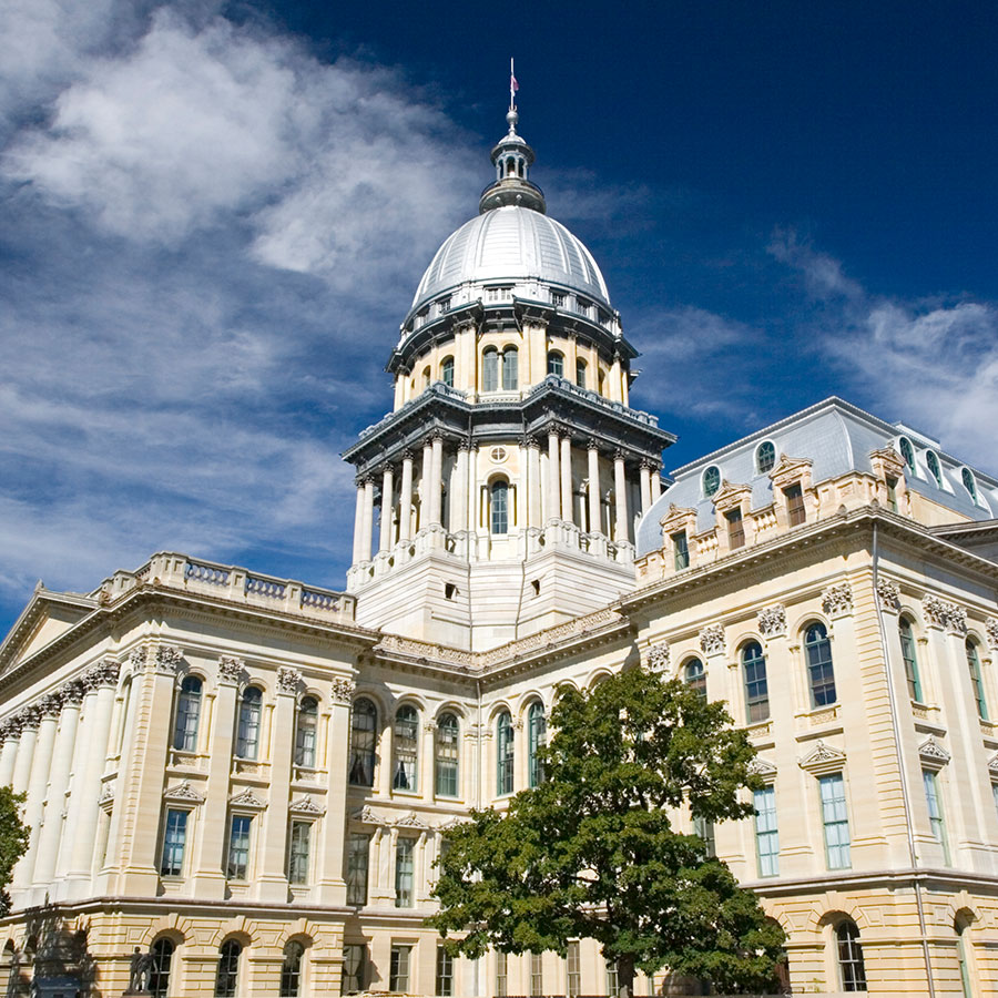 Illinois capitol building [Advocate for safer policy]